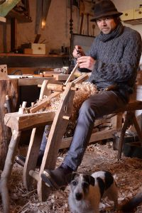 Gareth Irwin, green woodworker (photo by Gavin Hogg)