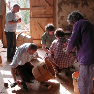Devon stave basket making - photo by Hilary Burns