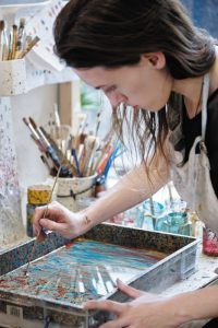 Lucy McGrath in workshop