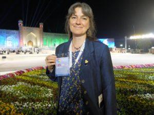 Sian Evan in Uzbekistan