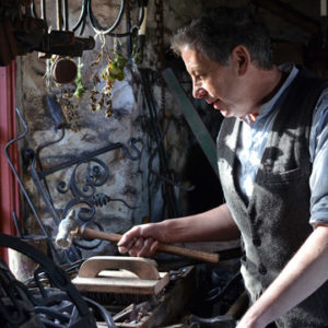 Gerald Monaghan, blacksmith (photo by Philip Utton)