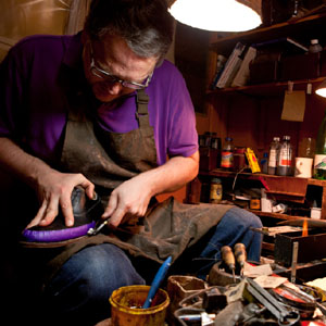 Shoemaking. Photo by Nick Fleming.