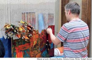 Weaver at work, Dovecot Studios