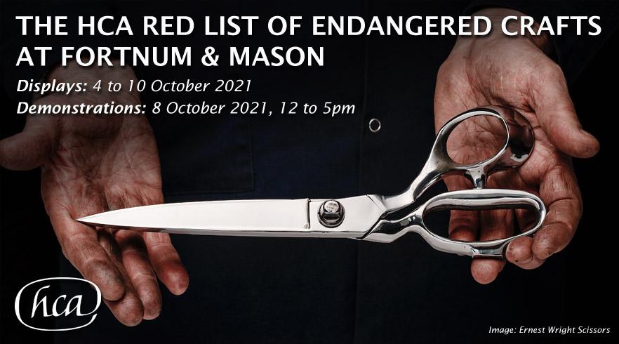 The HCA Red List of Endangered Crafts at Fortnum & Mason