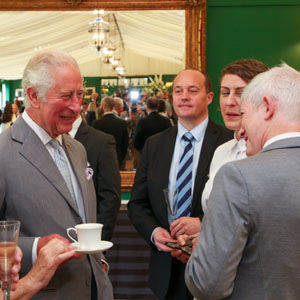 Award winners with HRH The Prince of Wales. Photo by Richard Ivey.